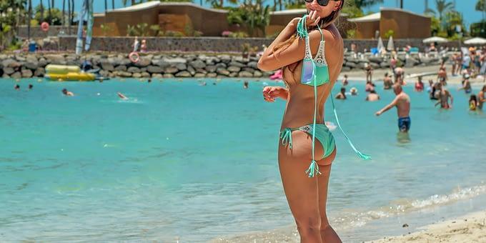 woman near water body
